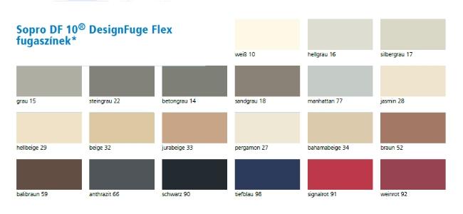 DesignFuge színek