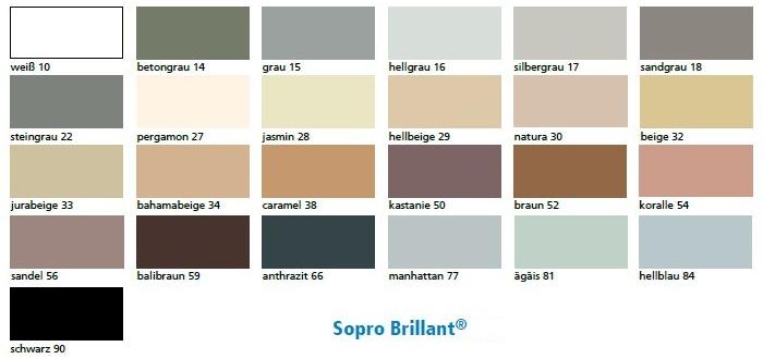 Sopro Brillant színek