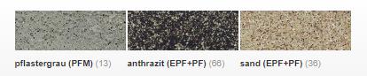 Sopro EPF színek
