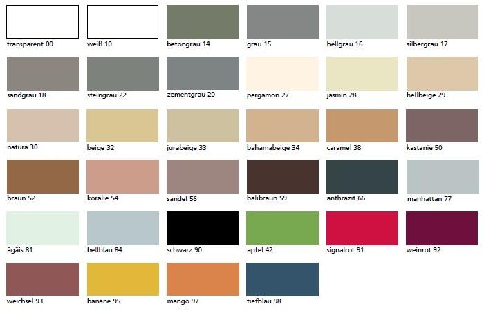 Sopro Szaniter szilikon színek